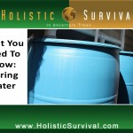 What You Need to Know: Storing Water