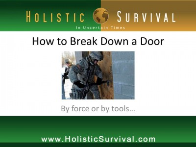 how to break down door